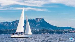 le 26 juin, navigation St-Mandrier Hyères