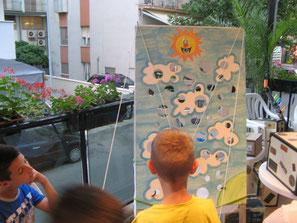 Un gioco Psicomotorio per i bambini, coordinamento mentale e brace.