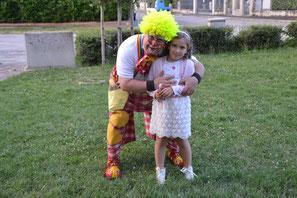 Il Clown Caramello al compleanno di Valentina.  Auguri Principessa
