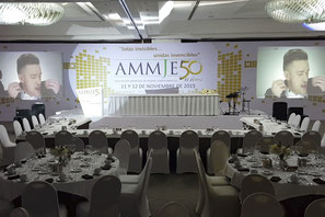 Iluminación de conferencia AMMJE 50 Aniversario
