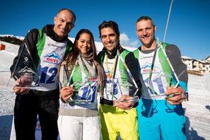 Das Gewinnerteam mit Stefan Regez, Alina Buschschacher, Andre Roger und Nöldi Forrer - super Teamwork