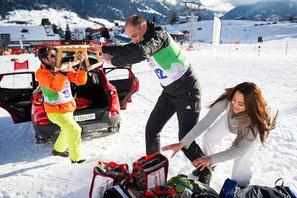Andre Roger, Stefan Regez und Alina Buchschacher im Einsatz