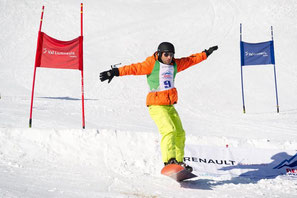 Andre Roger auf dem Snowboard