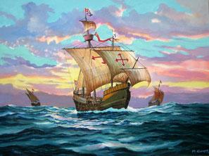 Navire Santa Maria. Après un périple de près de 2 mois et demi en mer des Caraïbes, le navire fait naufrage, dans la nuit de Noël 1492, sur les côtes d'Hispaniola au large de Cap-Haïtien. Son bois sera utilisé pour la construction du fort de La Navidad.