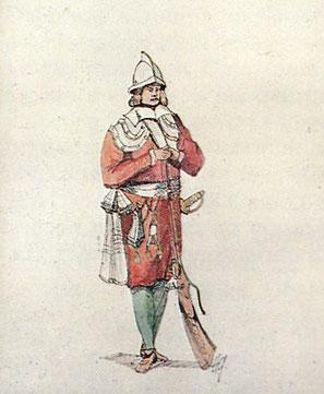Il faut attendre la bataille navale de Lépante de 1571 pour voir l'armée pontificale prendre part à la campagne naval. Des équipages Corses montent les galères armées par l'Église. Un service régulier est créé. La Garde papale est organisée.