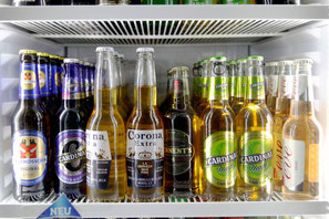 Grosse Auswahl an verschiedenen Bieren