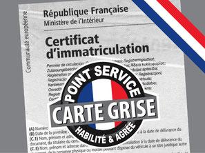 carte grise, certificat d'immatriculation, immatriculation attestation passeport carte d'identité garantie identification enregistrement homologation  plaques déclaration titre