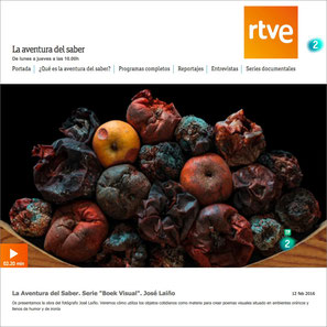 "RTVE2. ""BOEK VISUAL"" : JOSE LAIÑO.  TV"