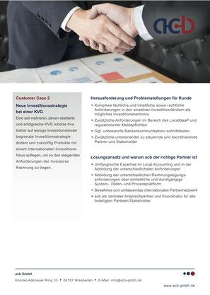 acb GmbH Customer Case: Neue Investitionsstrategie bei einer KVG