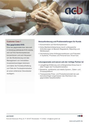 acb GmbH Customer Case: Neu gegründete KVG