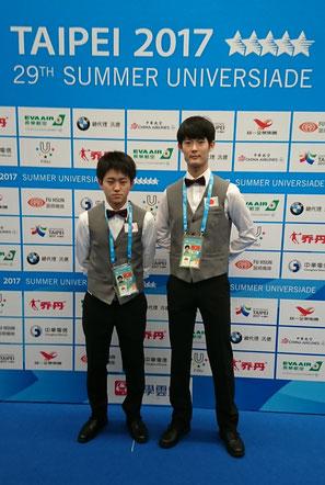 宍戸隆之(左)&鈴木謙吾 写真:前田義孝(ビリヤード監督) 以下同