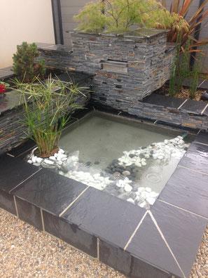 Bassin jardin décoration moderne contemporain design
