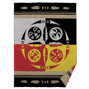 "Baby blanket met Milestone set ""Wolf"" van Simone Diamond (Coast Salish)"