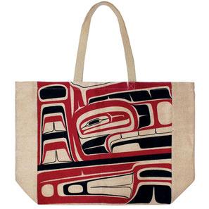 "Shopper met design ""Phoenix Rising"" van Morgan Asoyuf (Tsimshian)"