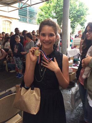 Zélie termine 6ème et 1ère catégorie collège 4ème-3ème