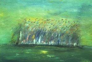 SCHILF, Pastell auf Papier, 50 x 70 cm, 2001