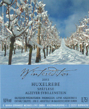 Etikett Winteredition Wein