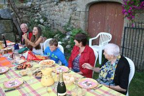dîner à la table d'hotes du Drac en Haute-Loire