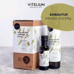 Vitelium Natives Olivenöl Extra, Embratur, grünfruchtig mit Noten von Tomaten, 100ml