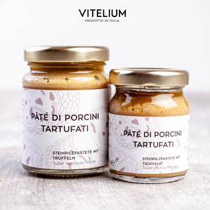 Vitelium Pate di Porcini, Steinpilzpastete mit Trüffeln aus Italien, 50g