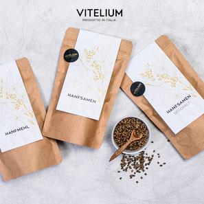 Vitelium geschälte Hanfsamen, reich an Omega-3, allen Aminosäuren, 250g