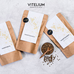 Vitelium Hanfsamen, reich an Omega-3, allen Aminosäuren