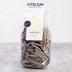 Vitelium Hanfnudeln, Penne, reich an pflanzlichen Hanfproteinen, 500g