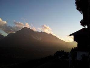 Atmosfera serale estiva al Geigerhof