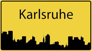 Ortsschild Karlsruhe