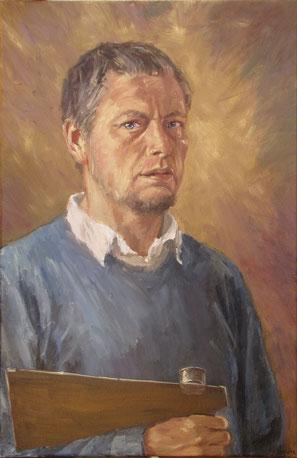Tony Wahlander (Tony Wåhlander) artiste peintre, autoportrait.