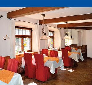 Stilvoller Speisesaal im Haus am Steinbach in Nußdorf am Inn