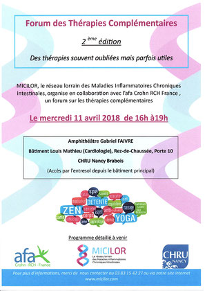 Forum organisé par MICILOR au CHRU Nancy-Brabois