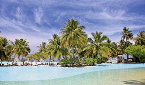 Malediven Reise Komfortinsel mit Pool all inclusive Urlaub Malediven mit Flug