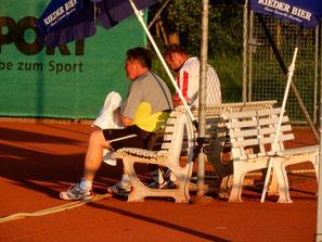 Walter Thrainer mit Hermann Aigner im 1er Doppel
