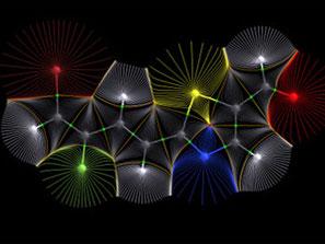 Représentation de synapses, pour connoter l'hypnose Ericksonienne.