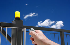gate safety device by AKIA France System, French manufacturer of wheeled motor drives
