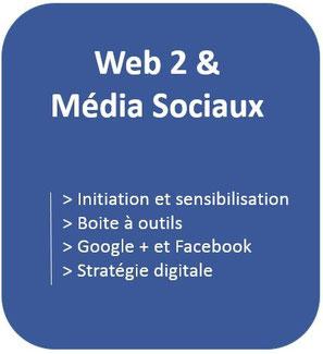formation sur une initiation et sensibilisation aux média sociaux,  formation sur Google Plus , formation sur Facebook et stratégie digitale