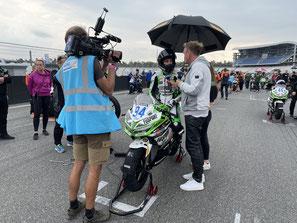 Marvin Siebdrath vor dem Start in sein IDM Rennen am Hockenheimring
