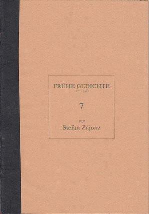 Stefan Zajonz, FG, Poesieheft Bd.7 / Deutpols, 24.05.2001, Bonn-Bad Godesberg