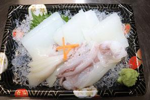 福井県にある鮮魚店真洋水産 イカ刺し