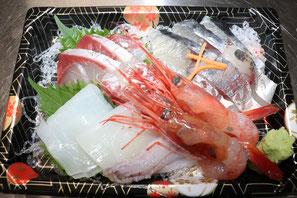 福井県にある鮮魚店真洋水産 刺身盛り合わせ