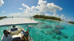 beautiful lagoon of Bora Bora