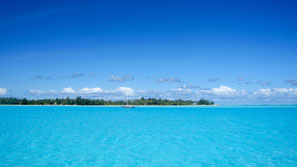 Bora Bora Matira, the most beautiful part of Bora Bora lagoon.