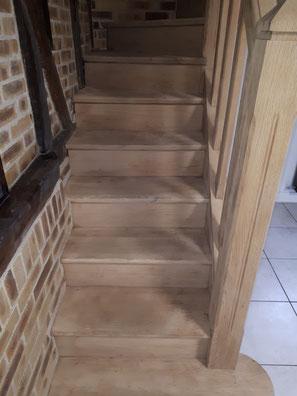 decapage escalier bois