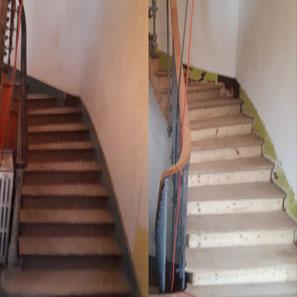 decapage aérogommage sablage escalier 78 yvelines