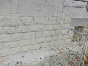 decapage par aerogommage facade 78 yvelines