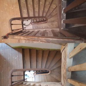 decapage aérogommage sablage escalier paris 75