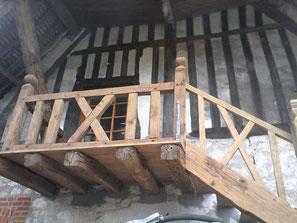 Aerogommage escalier 78