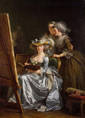 Autoportrait avec deux élèves (1785) © Metropolitan Museum of Art, New York