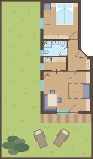 Mappa appartamento - Garni Hotel Clara B&B Riscone / Plan de Corones / Cron4